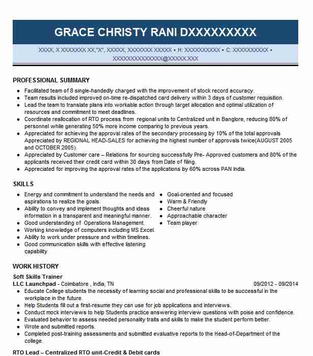 Soft Skills Trainer Resume Sample Trainer Resumes LiveCareer