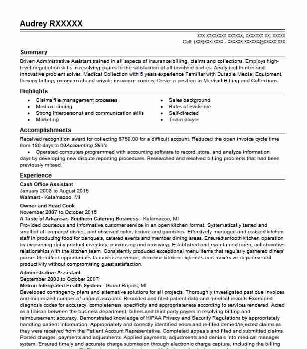 Cash Office Assistant Resume Sample Assistant Resumes LiveCareer