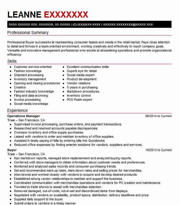 12 Fashion Resume Examples Business Resumes LiveCareer