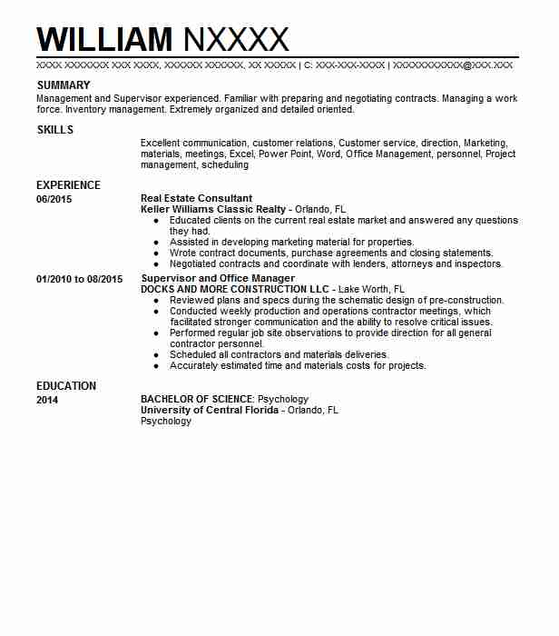 Real Estate Consultant Resume Sample Consultant Resumes LiveCareer