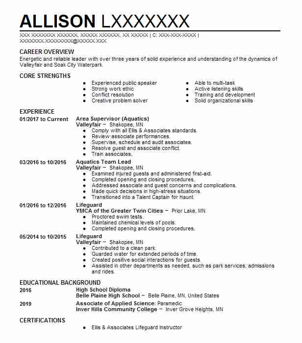 parks and recreation resume examples - Goalgoodwinmetals