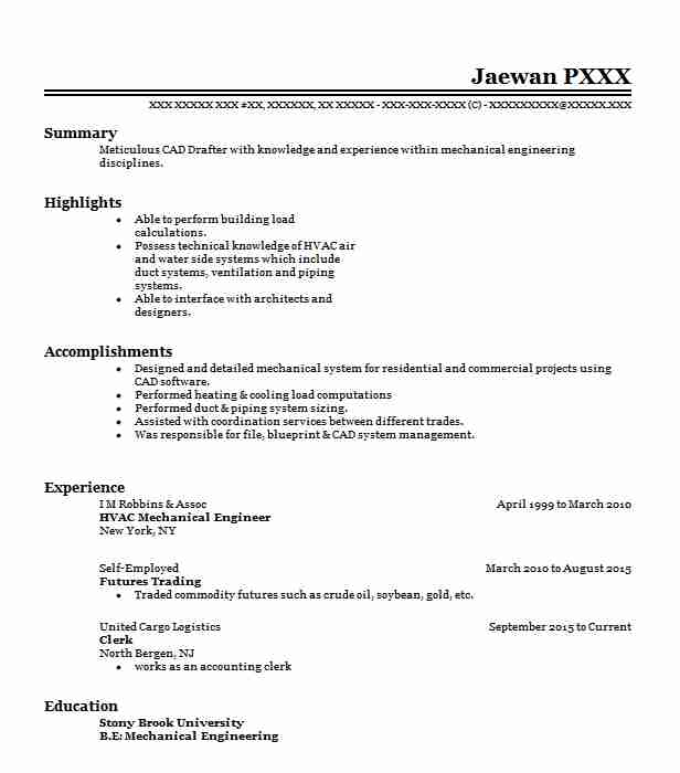 Hvac Mechanical Engineer Resume Sample LiveCareer - Mechanical Engineering Resume