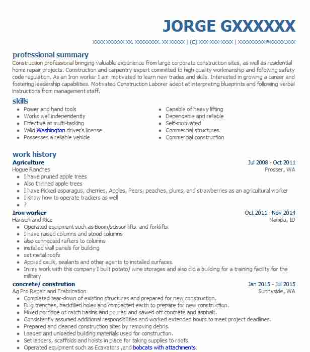 Agriculture Resume \u2013 Free Professional Resume Templates
