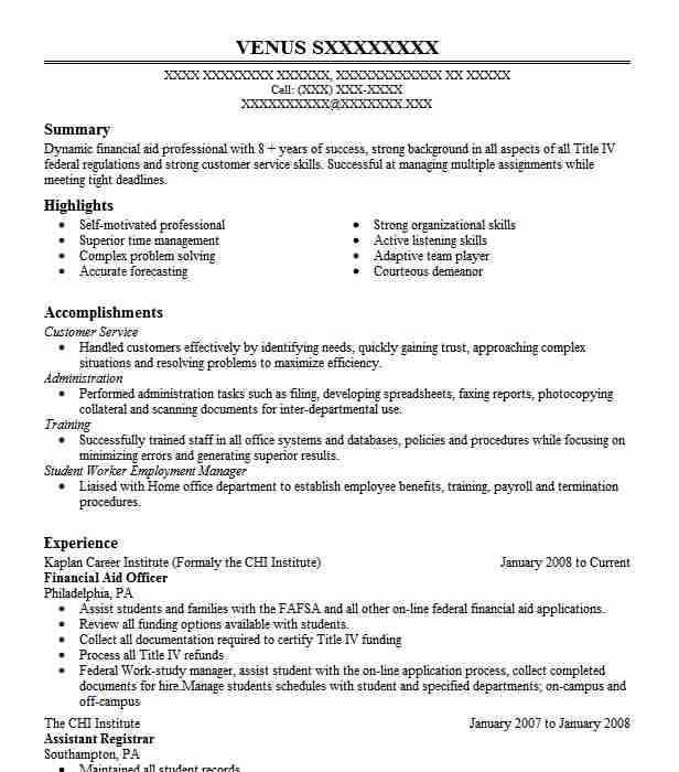 Financial Services Officer Resume - Customer Service Officer CV Example