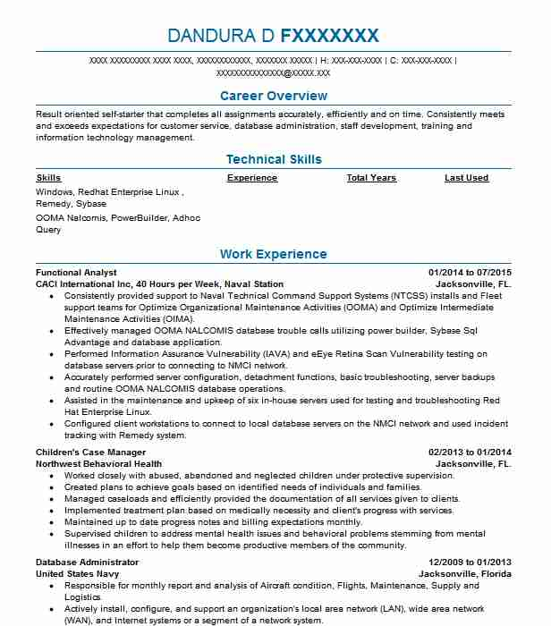 Functional Analyst Resume Sample Analyst Resumes LiveCareer