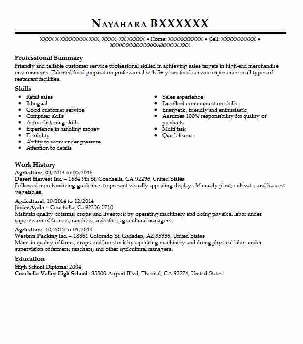 resume summary statement horticulturist