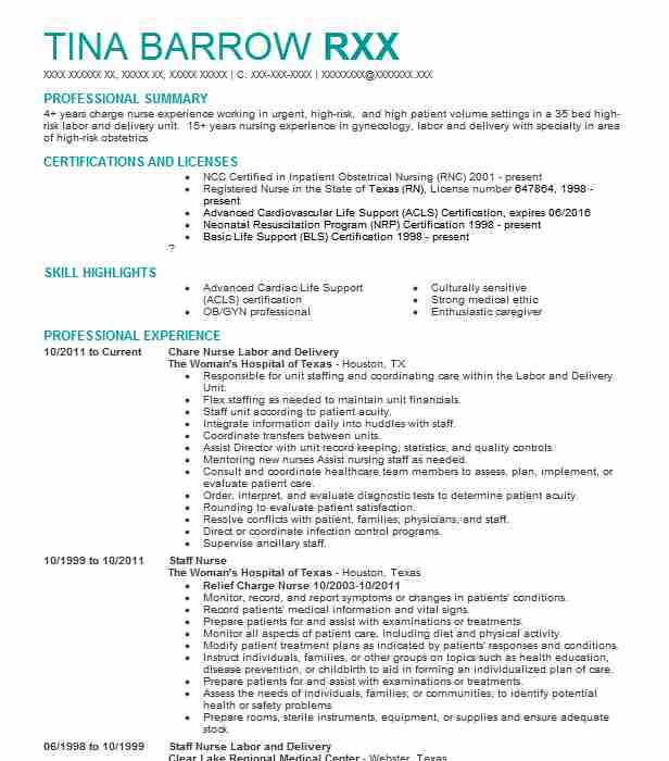 Best Registered Nurse Resume Example LiveCareer - professional nursing resume