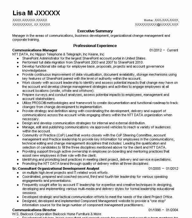 Communications Manager Resume Sample Resumes Misc LiveCareer