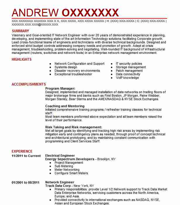 Electrical Engineer Resume Objectives Resume Sample LiveCareer