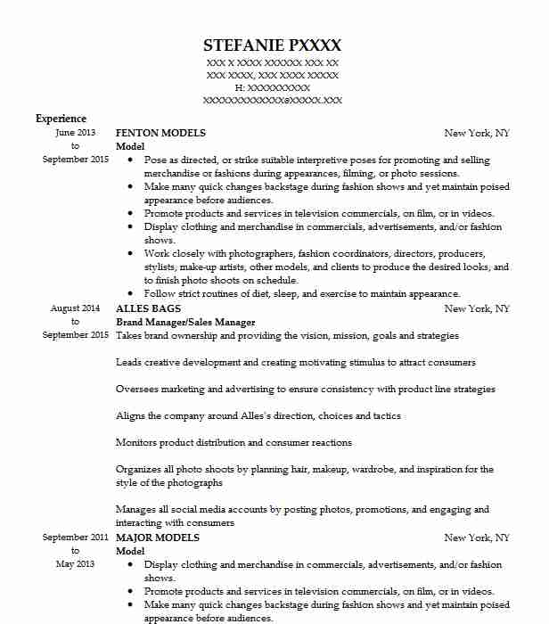 talent scout resume sample