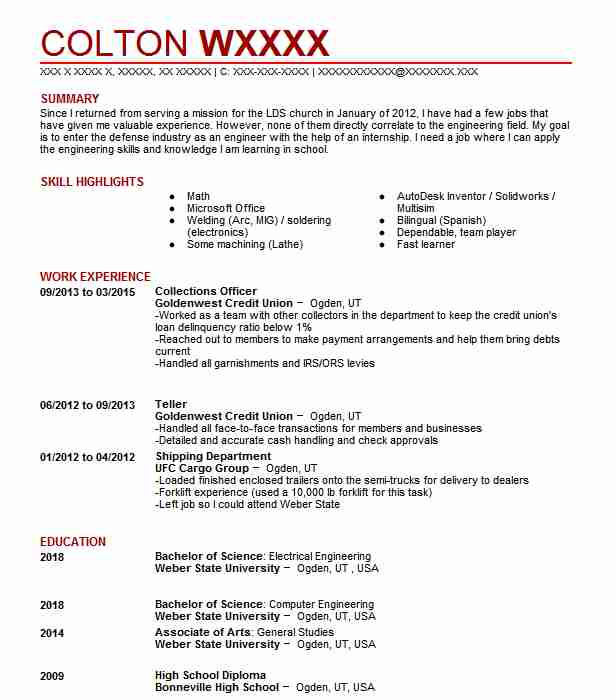 Collections Officer Resume Sample Officer Resumes LiveCareer