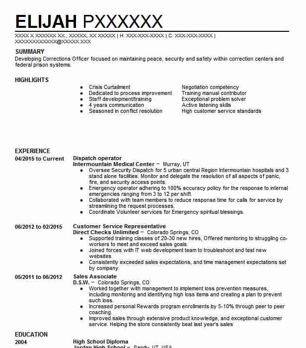 Dispatch Operator Resume Sample Operator Resumes LiveCareer