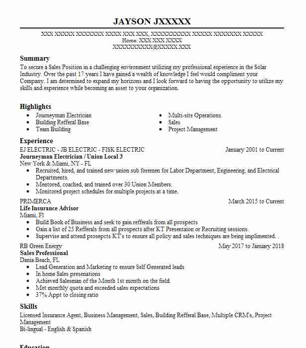 resume resume examples electrician industrial electrician resume