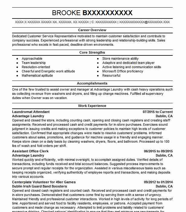 Laundry Store Resume Retail Owner - Daily Instruction Manual Guides \u2022