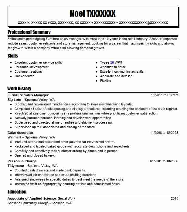 Furniture Sales Manager Resume Sample Manager Resumes LiveCareer