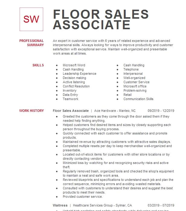 bath and body works resume sample