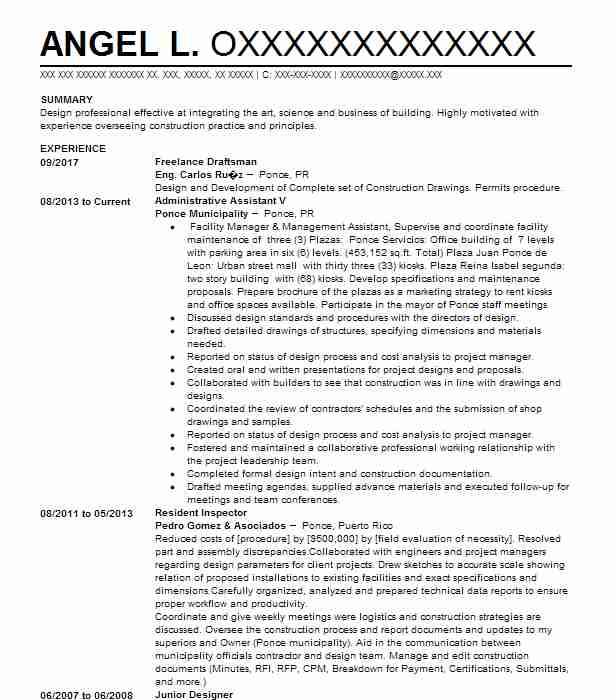 8845 Architects Resume Examples Architecture Resumes LiveCareer