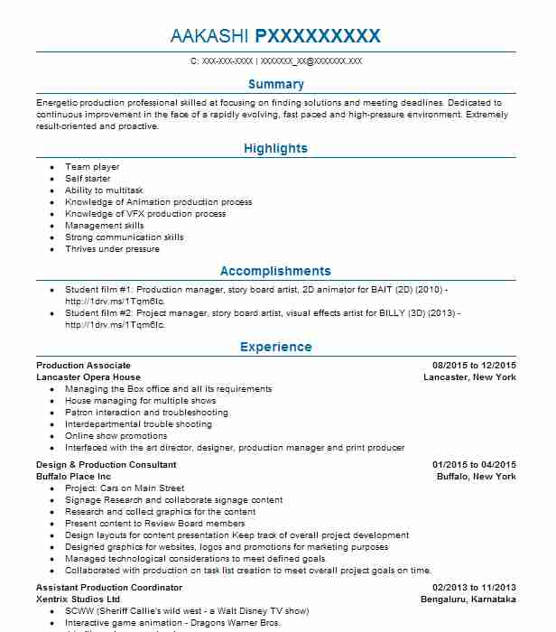 Production Associate Resume Sample Associate Resumes LiveCareer
