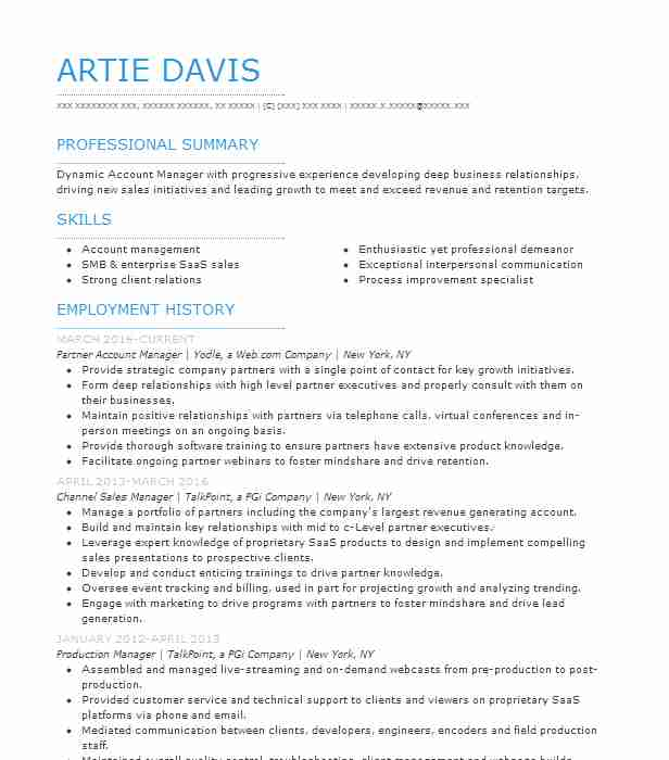 Channel Sales Manager Resume Sample Manager Resumes LiveCareer
