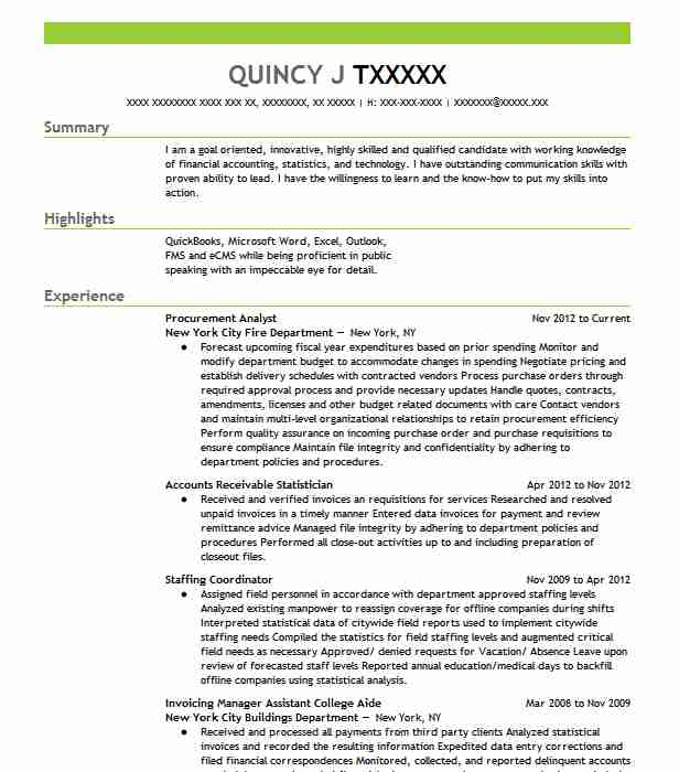 Procurement Analyst Resume Sample Analyst Resumes LiveCareer