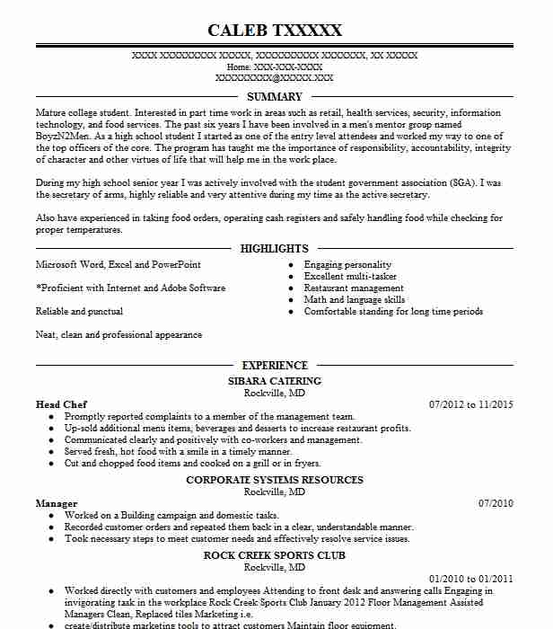Head Chef Resume Sample Chef Resumes LiveCareer