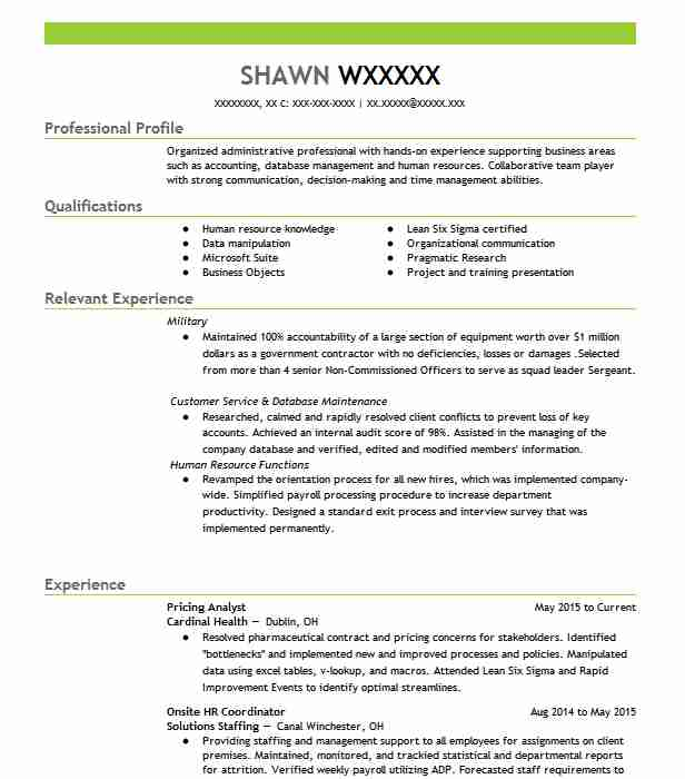 Pricing Analyst Resume Sample Accountant Resumes LiveCareer