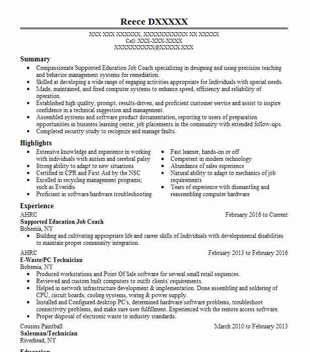 2685 Special Education Resume Examples in New York LiveCareer - special education resume