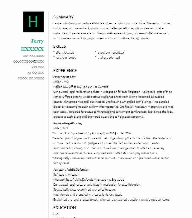 Entertainment Law Associate Resume Example (Fox Rothschild LLP