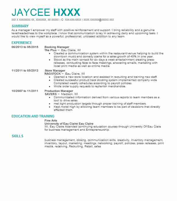 4549 Textile And Apparel Resume Examples  Samples LiveCareer