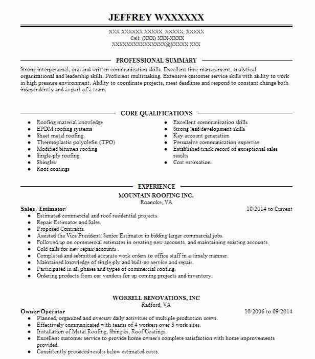 roofer resume - Onwebioinnovate