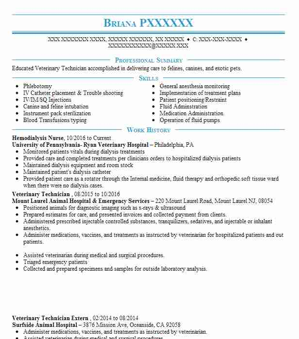 Hemodialysis Nurse Resume Sample Nursing Resumes LiveCareer