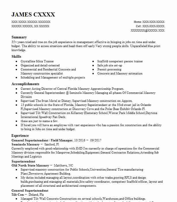 Piping Superintendent Resume Sample LiveCareer - piping supervisor resume
