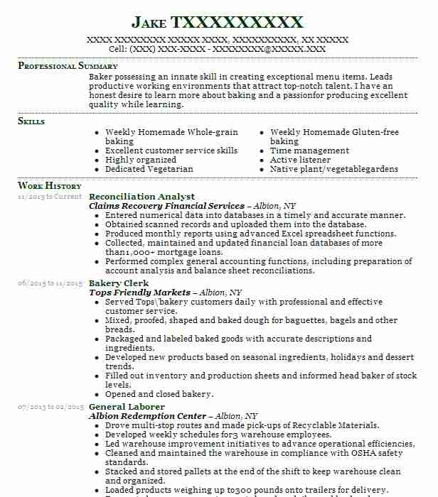 Reconciliation Analyst Resume Sample Analyst Resumes LiveCareer - reconciliation analyst sample resume