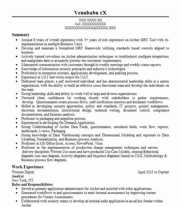 Analyst Objectives Resume Objective LiveCareer - oil and gas lease analyst sample resume