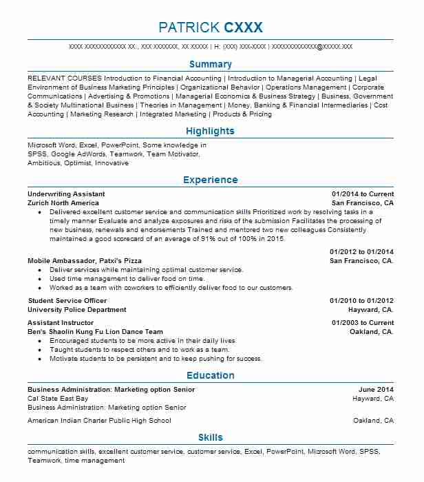 Underwriting Assistant Resume Sample Accountant Resumes LiveCareer