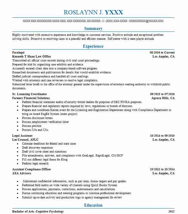 7830 Underwriters Resume Examples Insurance Resumes LiveCareer