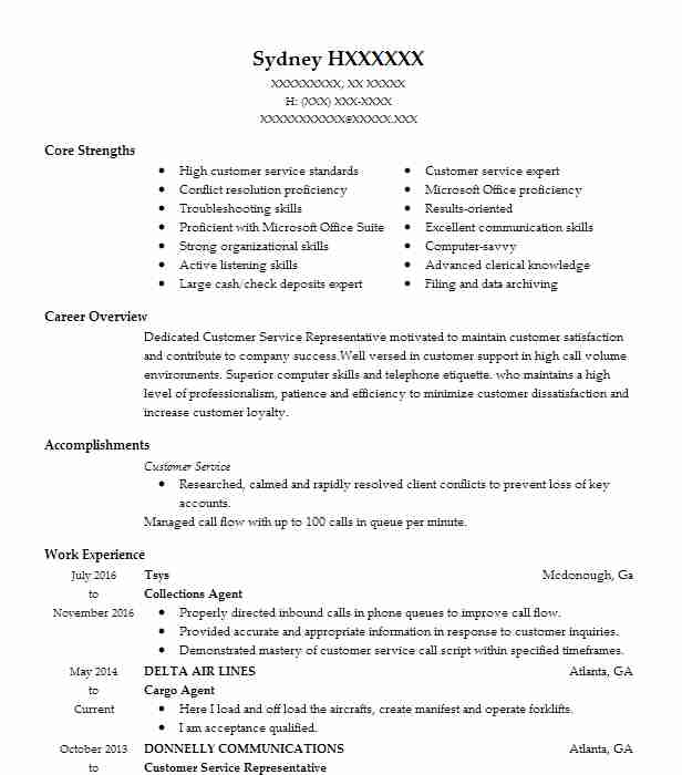 Cargo Agent Resume Sample Agent Resumes LiveCareer