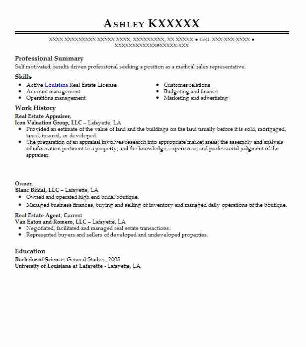 Real Estate Appraiser Resume Sample Appraiser Resumes LiveCareer