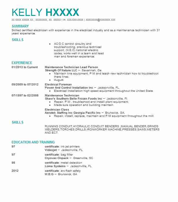 Gse Mechanic Sample Resume kicksneakers
