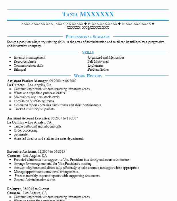 Assistant Product Manager Resume Sample Manager Resumes LiveCareer