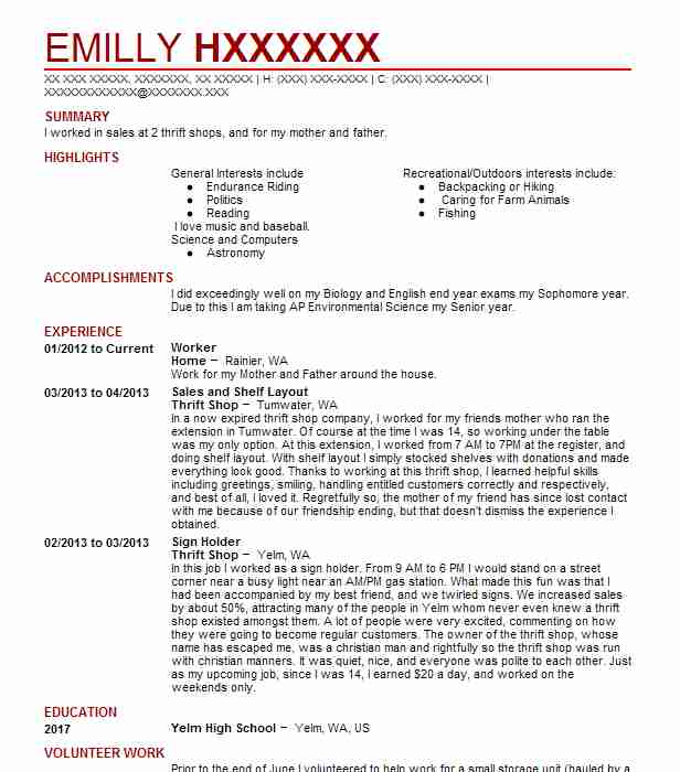 Eye-Grabbing Worker Resume Samples LiveCareer