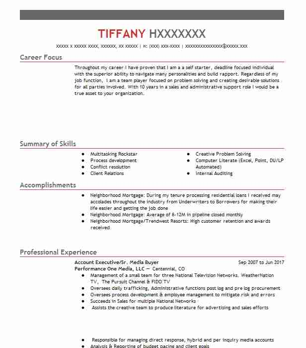 7931 Mortgage Resume Examples Real Estate Resumes LiveCareer - career focus on resume