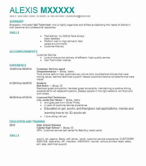 Customer Service Agent Resume Example (Teleperformance) - Boise, Idaho