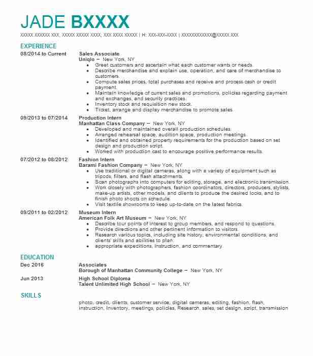 Sensor Operator Resume Example (United States Air Force) - Las Vegas