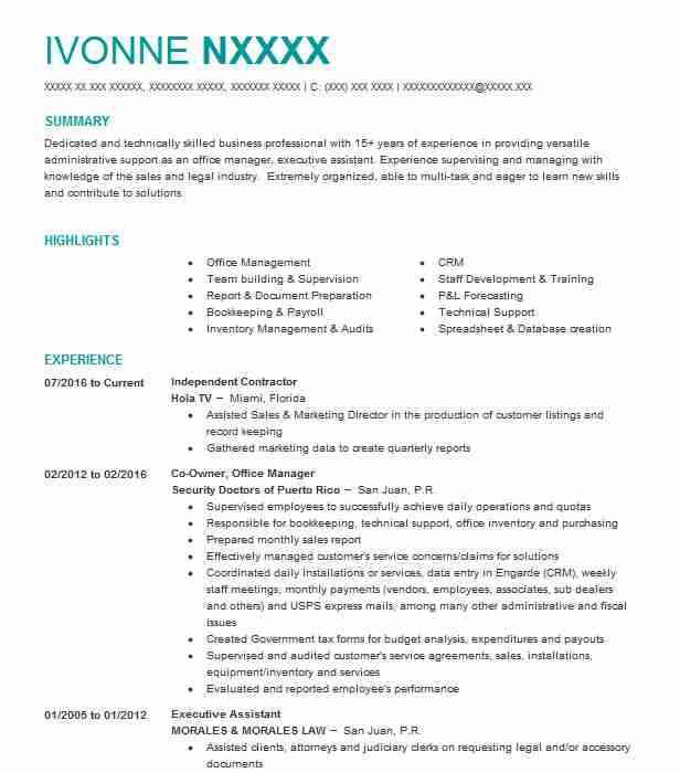 independent contractor consultant resume samples