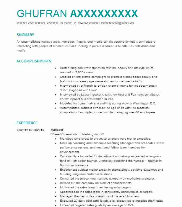 267 Television And Radio Resume Examples in Virginia LiveCareer