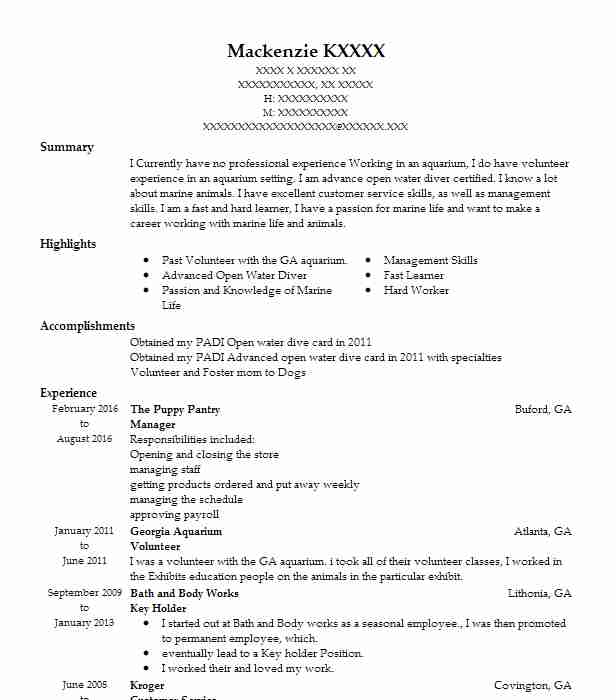 Aquarium Worker Sample Resume kicksneakers - aquarium worker sample resume