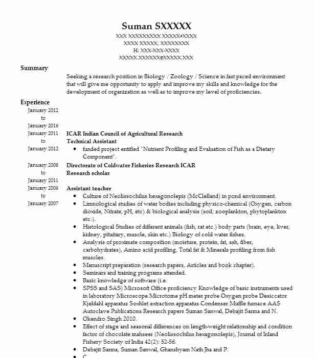 Technical Assistant Resume Sample Technical Resumes LiveCareer