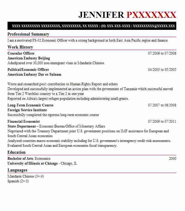 Consular Officer Resume Sample Resumes Misc LiveCareer