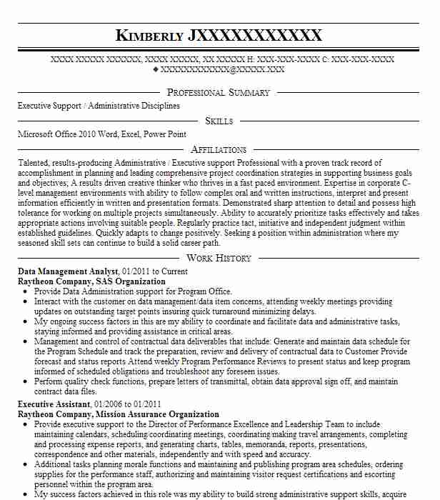 Data Management Analyst Resume Sample Analyst Resumes LiveCareer